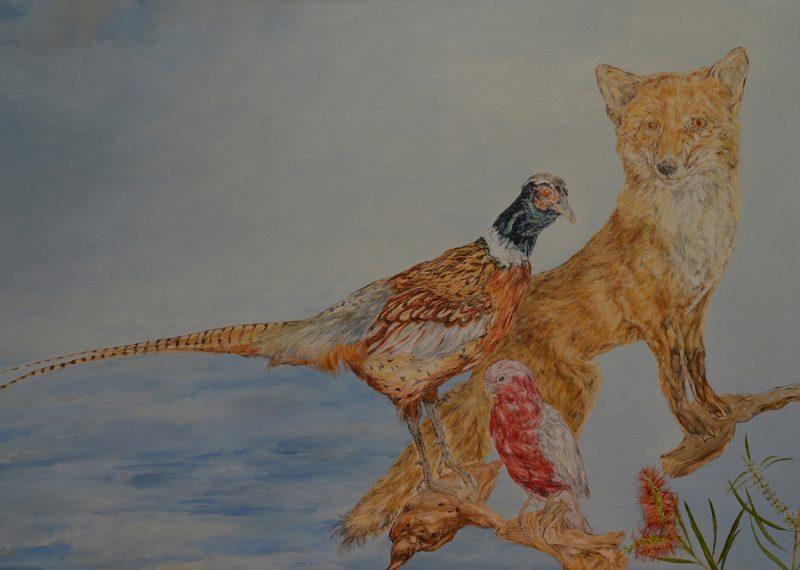 Michelle Zuccolo, Habitat 2020 oil on canvas 50 x 70 cm